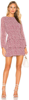 1 STATE Long Sleeve Wildflower Ditsy Tiered Ruffle Dress