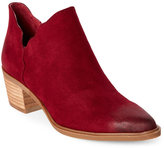 Betsey Johnson Burgundy Keely Scalloped Pointed Toe Ankle Booties