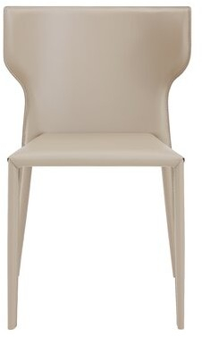 Euro Style Divina Armless Stackable Chair Eurostyle Seat Finish: Light Gray