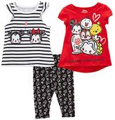 Children's Apparel Network Disney Tsum Tsum 'Follow Your Heart' Top Set - Toddler & Girls