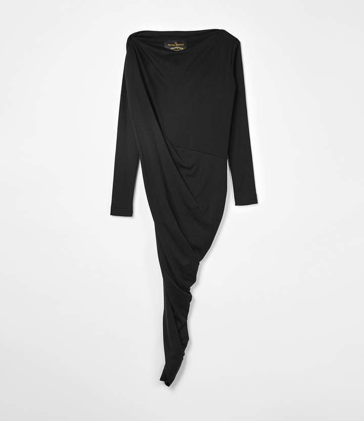 Vivienne Westwood Long Sleeve Vian Dress Black