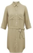 Heidi Klein Venice Belted Shirtdress - Womens - Khaki