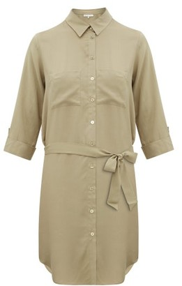 Heidi Klein Venice Belted Shirt Dress - Khaki
