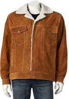 Vintage Leather Suede Jacket - Men