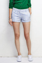 "Classic Women's Not-Too-Low Rise 3"" Eyelet Shorts-Venetian Blue Gingham"