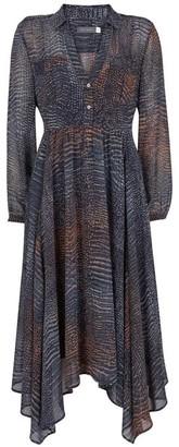 Mint Velvet Marlee Snake Print Midi Dress