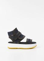 Marni night blue platform sandal