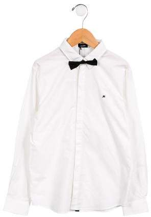 Junior Gaultier Boys' Bow Tie Button-Up Shirt w/ Tags