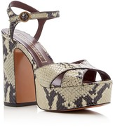 Marc Jacobs Debbie Snake-Embossed Platform Sandals