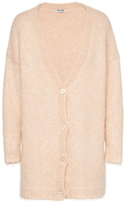 Miu Miu Brushed Mohair-Blend Cardigan
