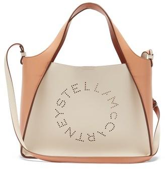Stella McCartney Stella Large Bicolour Faux-leather Tote Bag - White Multi