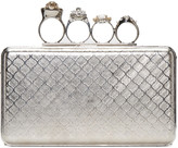 Alexander McQueen Silver Small Knucklebox Clutch