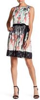 Betsey Johnson Chiffon Fit and Flare Lace Dress