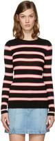 Etoile Isabel Marant Black Striped Derring Pullover