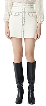 Maje Jisla Knit Mini Skirt
