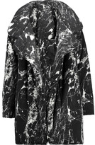 Norma Kamali Reversible printed stretch-jersey coat