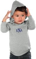 Princess Linens Gray & Blue Monogram Hoodie - Infant, Toddler & Boys