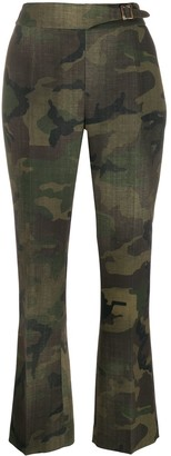 Ermanno Scervino belted camouflage trousers