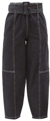 See by Chloe Belted Cropped Straight-leg Jeans - Black