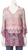 Women's World Unity Crochet High-Low Tunic