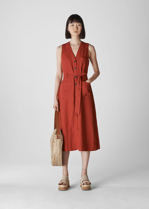 Cody Linen Button Dress