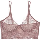 Hanro Lulu Stretch-leavers Lace Soft-cup Bra - Grape