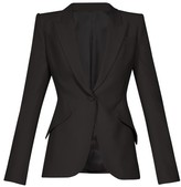 Alexander McQueen Single-breasted Crepe Blazer - Womens - Black