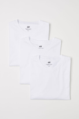 H&M 3-pack Regular Fit T-shirts - White
