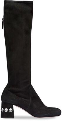 Miu Miu Embellished 65mm Suede Boots