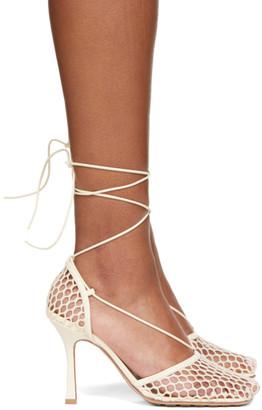 Bottega Veneta Off-White Mesh Stretch Heels