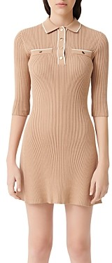 Maje Relly Short Rib Knit Dress
