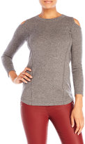 Qi Cold Shoulder Cashmere Sweater