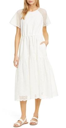 Diane von Furstenberg Marlowe Eyelet Midi Dress