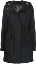 Moose Knuckles drawstring waist rain coat