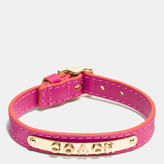 Coach Leather Buckle Plaque Bracelet