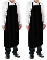 Vinyl Waterproof Apron Durable Ultra Lightweight Extra Long Extended Coverage (2, Black)