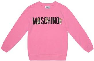 MOSCHINO BAMBINO Logo stretch-cotton sweatshirt