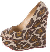 Charlotte Olympia Leopard Print Platform Wedges