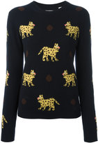 Chinti and Parker leopard intarsia jumper