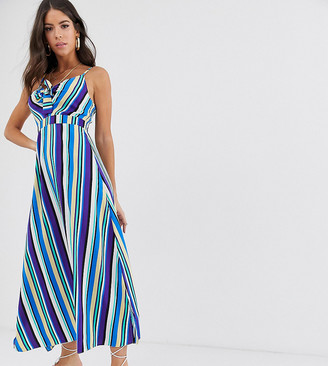 Brave Soul Tall kate maxi dress in stripe-Multi