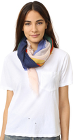 Tory Burch Color Field Print Square Scarf