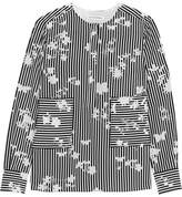 Altuzarra Carnegie Printed Silk Crepe De Chine Top - Black