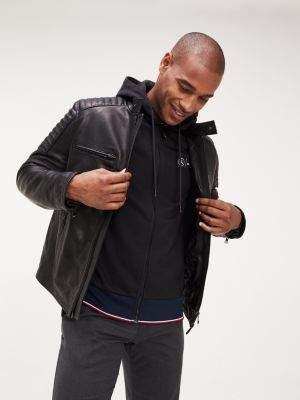 Tommy Hilfiger Mercedes-Benz Caf Racer Leather Jacket