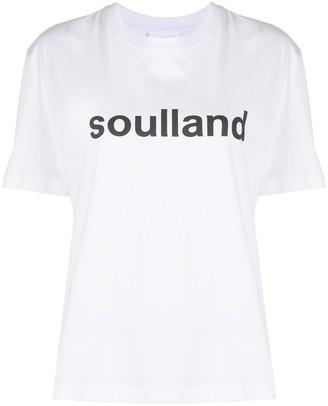 Soulland Isma logo print T-shirt