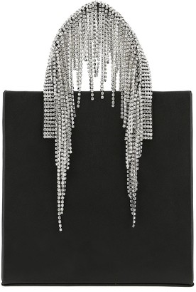 Kara Crystal Fringe Handle Handbag