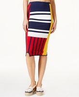 Tommy Hilfiger TOMMYXGIGI Colorblocked Patchwork Skirt