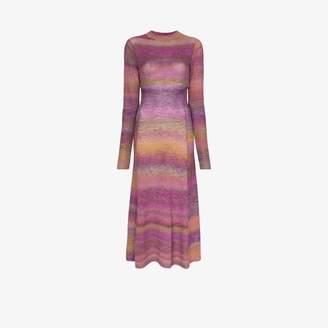 Tibi space dye print midi dress