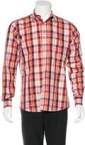 Etro Paisley Check Print Shirt