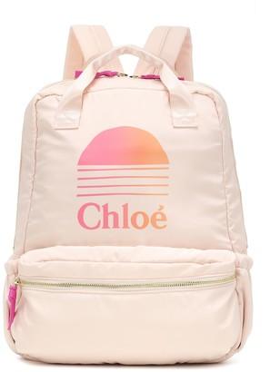 Chloã© Kids Logo backpack