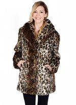 Women's Excelled Leopard Faux-Fur Coat